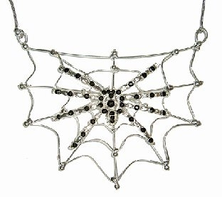 Spinnen Collier - Halloween Grusel-Accessoiires