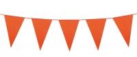 Mini-Wimpelkette Orange, 3 Meter