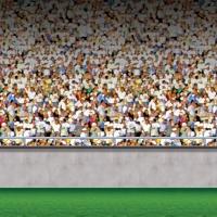 Dekofolie Fußballstadion - Fußballparty Deko