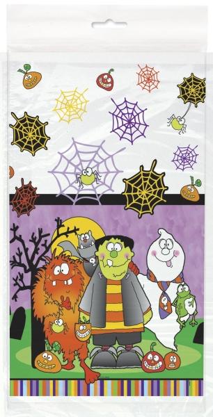 Kunststoff-TIschdecke Kleine Monster - Halloween Kinderparty Deko