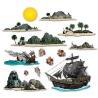 Dekofolien Seeschlacht vor den Pirateninseln