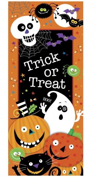 Tür-Dekofolie Spooky Smiles - Halloween Deko