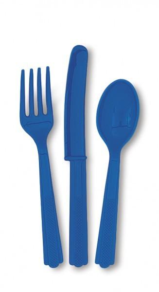 Party-Extra Besteckset, blau