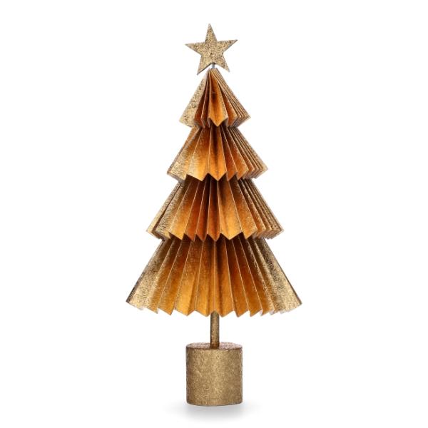 Goldener Papiertannenbaum