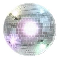 Cutout-Schild Disco-Kugel - Discoparty Deko