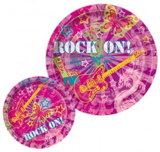 Pappteller Rock On! 8er Pack