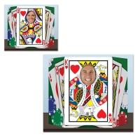 Party-Extra Fotowand Aufsteller Pokerface