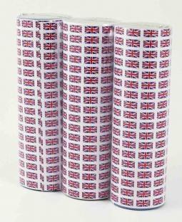 Luftschlangen Union Jack, 3er Pack