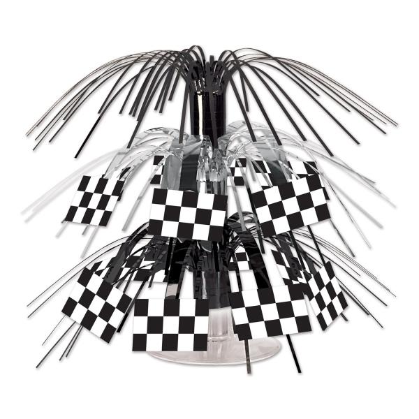 Mini-Tischkaskade Zielflagge - Motorsport Deko