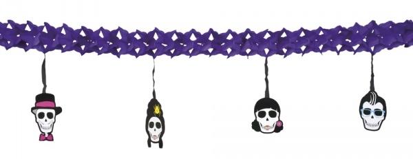 Girlande Sugar Skull Mexikoparty - Dia de los Muertos Deko