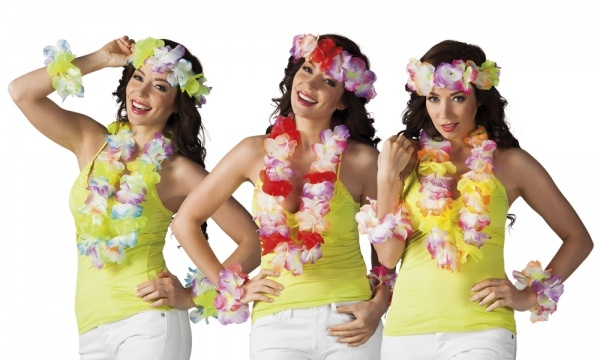 Party-Extra Hawaiiketten Set Aloha, 4-teilig