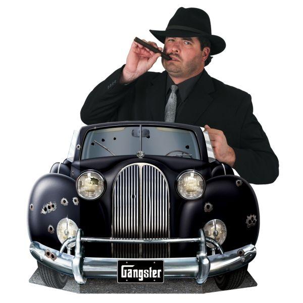 Party-Extra Riesen Pappaufsteller Gangsterwagen