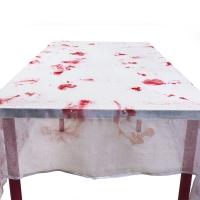 Blutverschmierte Polyester Tischdecke Blutbad eines Killers (150 x 180 cm)