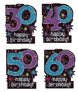 Glitzer Cutout Happy Birthday - Geburtstagsdeko