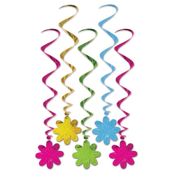 Deko-Spiralhaenger Flower Power - 70er Jahre Hippie Deko