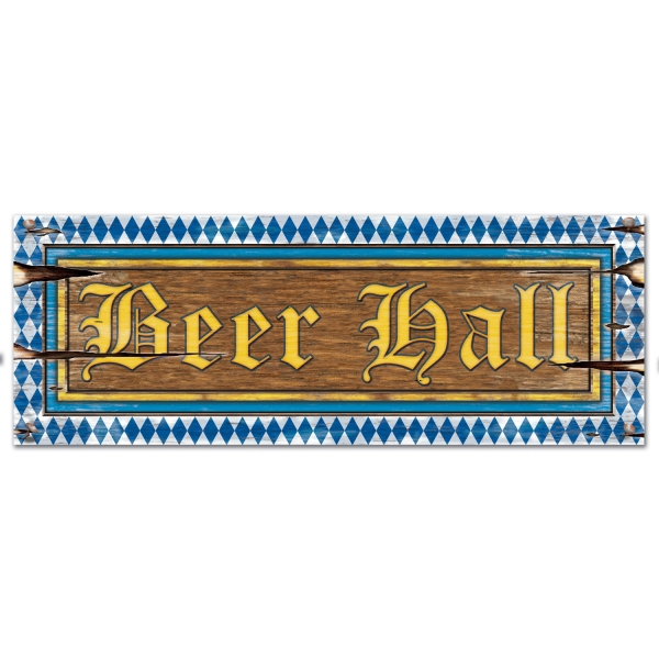 Cutout-Schild Beer Hall - Oktoberfest Deko
