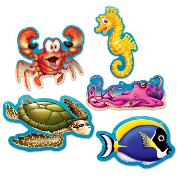 Mini Cutout Set Meeresbewohner - Unterwasserwelt Deko