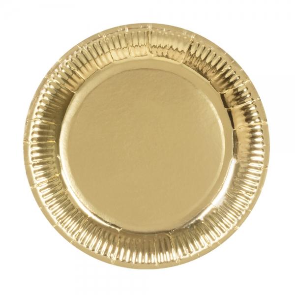 Pappteller Gold - Goldene Glamour Deko
