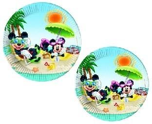 Pappteller Mickey in der Südsee - Beachparty Tischdeko