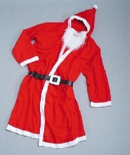 Weihnachtsmann-Filzmantel mit Bart
