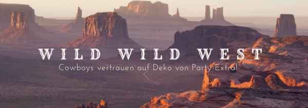 Party-Extra Wild West Cowboy Deko Mottoparty M