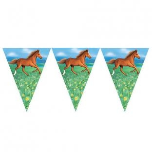 Wimpelkette Pferde, 3,60m lang,
