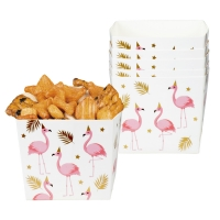 Pappschüssel Flamingoparty, 6er Pack