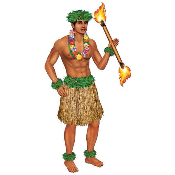 Cutout Figur Polynesischer Tänzer, 97 cm
