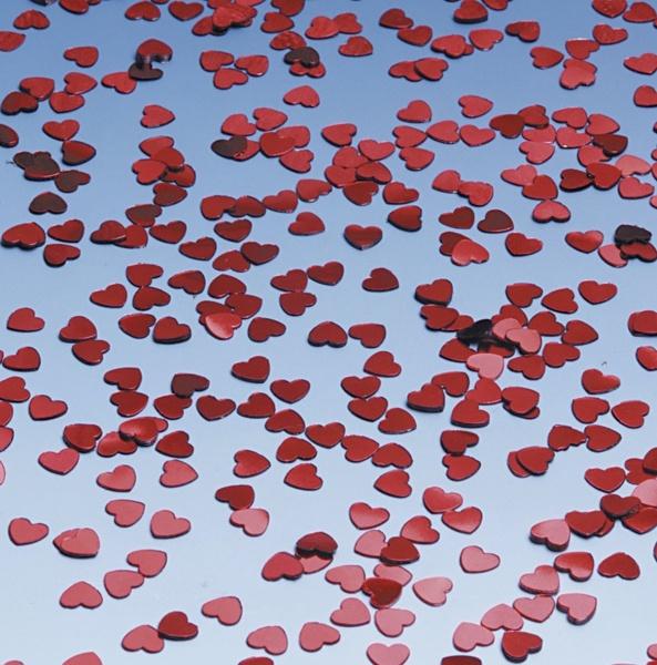 Tischkonfetti Metallic-Herzen, 6mm, 15g Pack