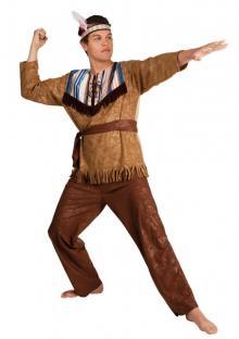 Herrenkostüm Indianer-Krieger