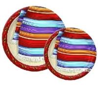 Pappteller Mexikanischer Poncho, 12er Pack