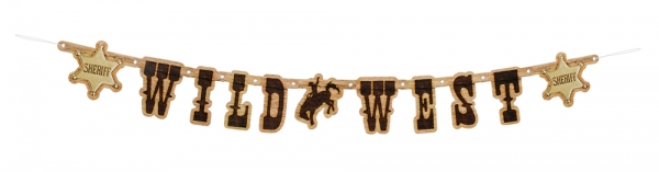 Buchstabengirlande Wild West Rodeo - Westernparty Deko