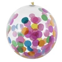 Buntkonfetti Luftballons, 30 cm, 5er Pack