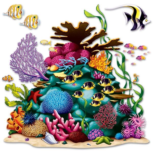 Dekofolien Buntes Korallenriff - Maritime Deko