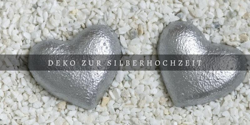 Deko silberhochzeit 25 jahre feiern - Deko zur silberhochzeit ...