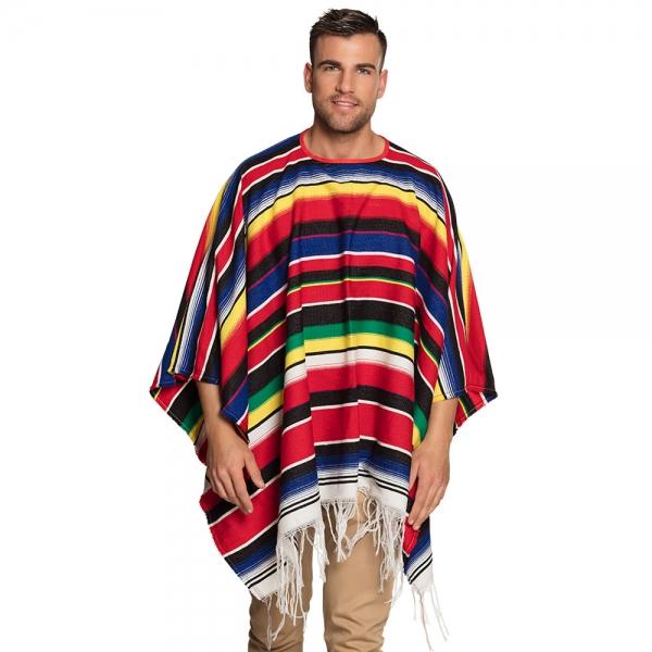Mexikanischer Poncho Rodrigo streifen 140x155