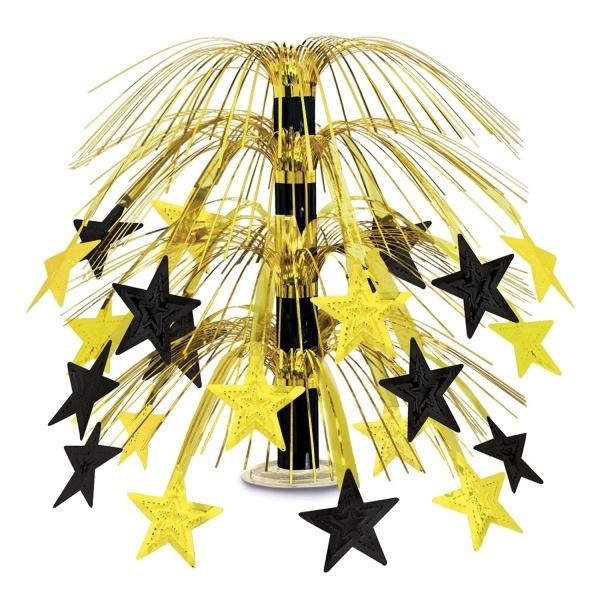 Party-Extra Große Tischkaskade Golden Starlight, 45 cm