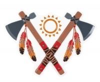 Party-Extra Wanddeko Tomahawk - Indianer Deko