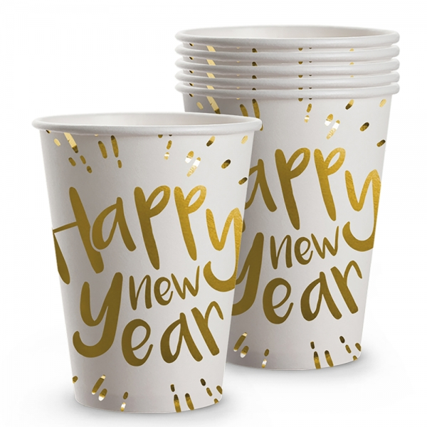 Pappbecher Happy New Year - Silvester Deko