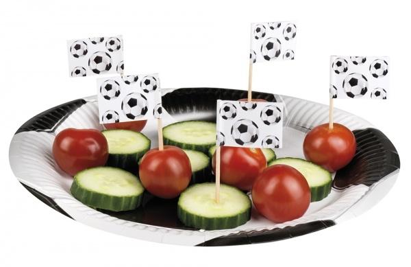 Party-Extra Flaggenpicker Fußball - Tischdeko für Fußballpartys