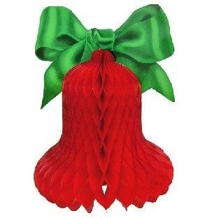 Große rote Weihnachtsglocke, 60 cm groß