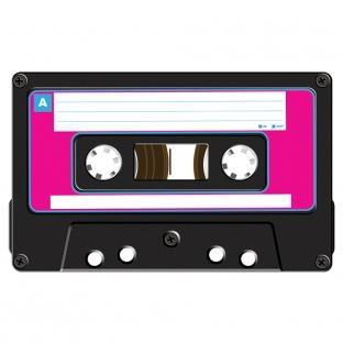 Folien-Aufkleber Kassette - 80er Jahre Retro-Deko