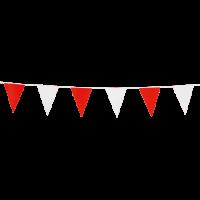 Mini-Wimpelkette rot-weiß, 3 Meter