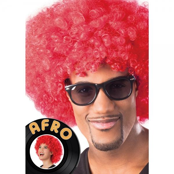 Afro Perücke Rot