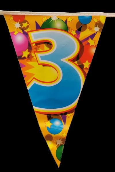 Zahlen-Wimpelkette 1-10, bunt - Geburtstagsdeko