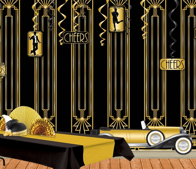 goldene 20er jahre deko die extravagante mottoparty party extra. Black Bedroom Furniture Sets. Home Design Ideas