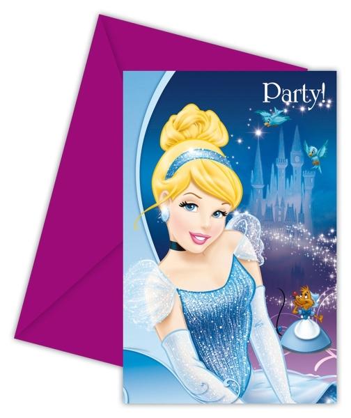Einladungskarten Cinderella, 6er Pack mit Umschlägen