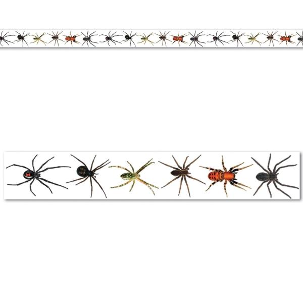 Transparentes Absperrband mit Spinnenmotiven,6 Meter