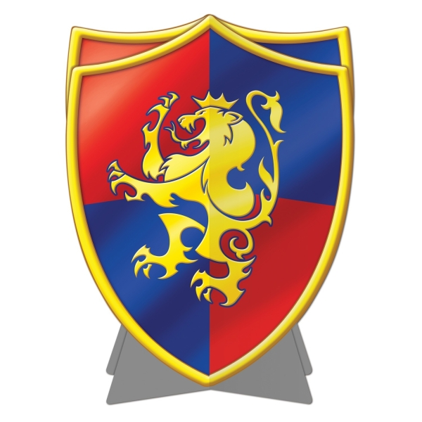 Party-Extra Tischdeko Wappen-Schild, 25 cm