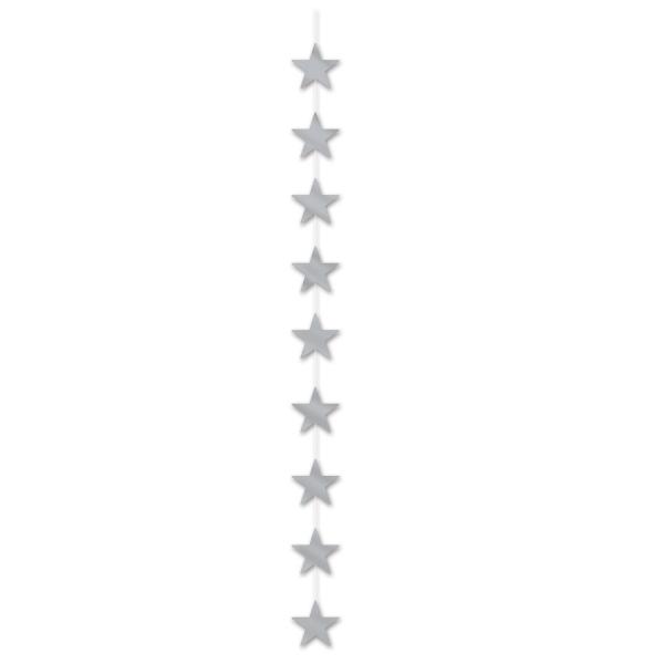 Sternkaskade silber, 190 cm lang